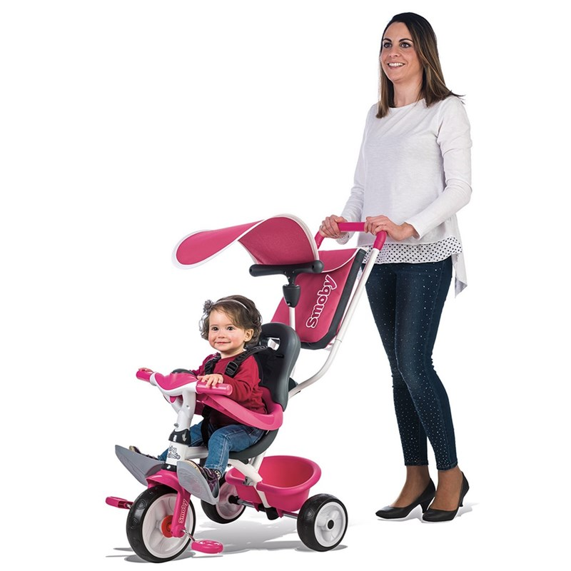 Smoby Trehjuling Baby Ballade II Rosa One Size