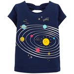 Carter's I'm Outta This World Space T-Shirt Marinblå