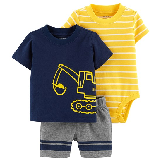 Carter's 3-Delat Construction Little Short Set