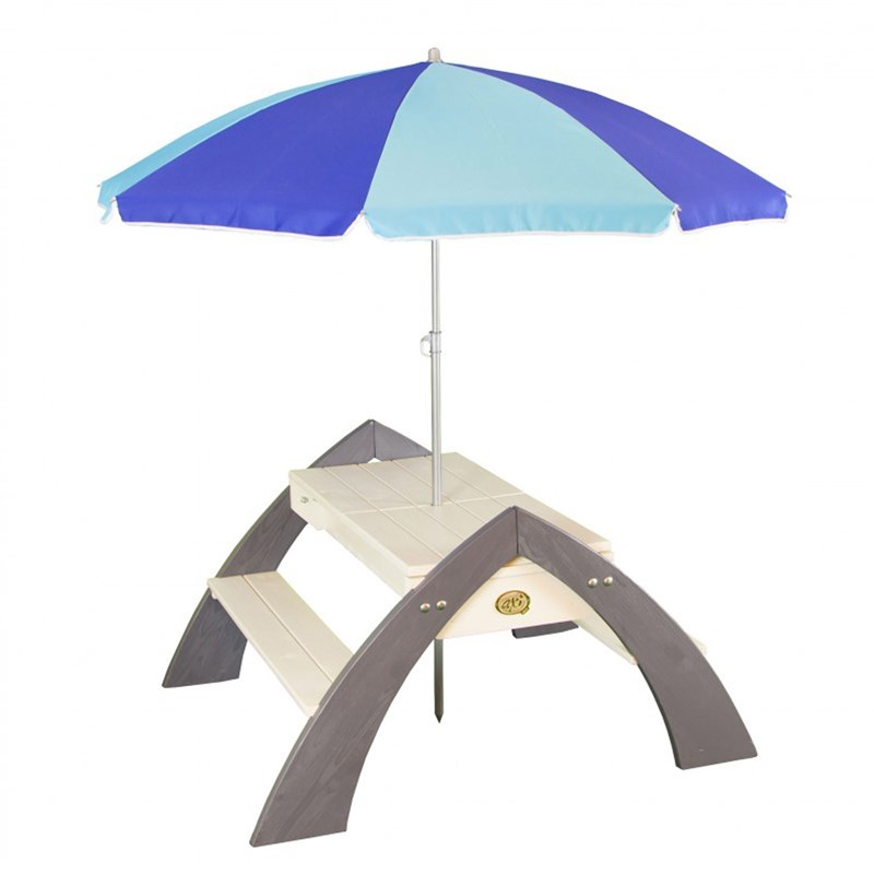 Axi Delta Sand- & Water Picnic Table including parasol 24+ months