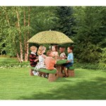 Step2 Naturally Playful® Picknickbord med Parasoll Grön