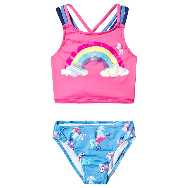 Hatley Rainbow Unicorns Sporty Bikini Set 2 years