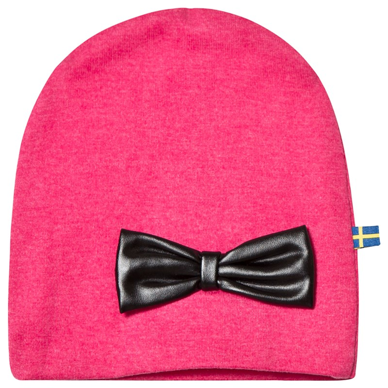 The BRAND HAT W LEATHER BOW PINK MELANGE S