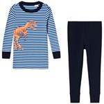 Lands' End Dinosaur Pyjamas Marinblå