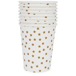 My Little Day 8 Paper Cups - Golden Stars