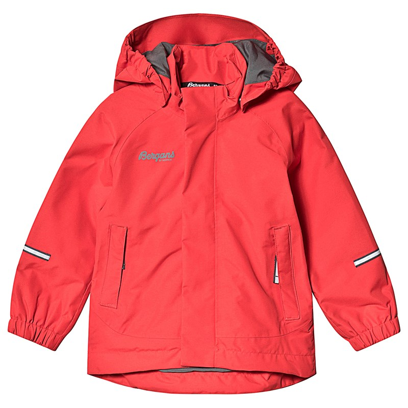 Bergans Lilletind Kids Jkt Fire Red Solid Dk Grey