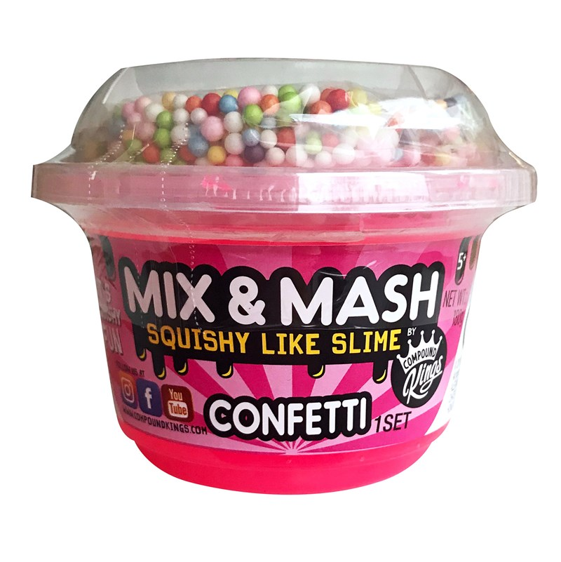 Compound King Yo-Cup Mix and Mash Slime Confetti 3+ years