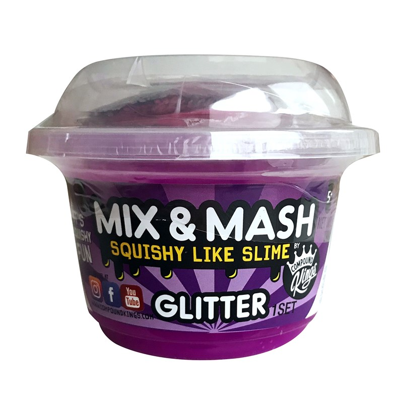 Compound King Yo-Cup Mix and Mash Slime Glitter 3+ years