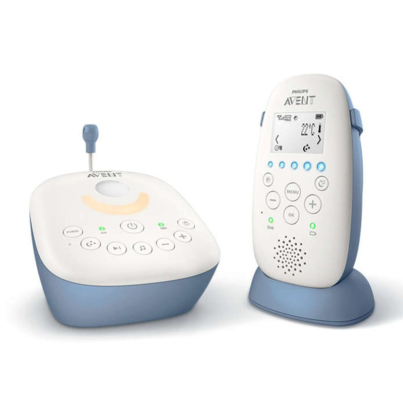 Philips Avent DECT Baby Monitor SCD734 Vit/Blå One Size