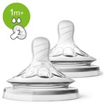 Philips Avent 2-Pack Natural Dinapp med 2 Hål 1m+