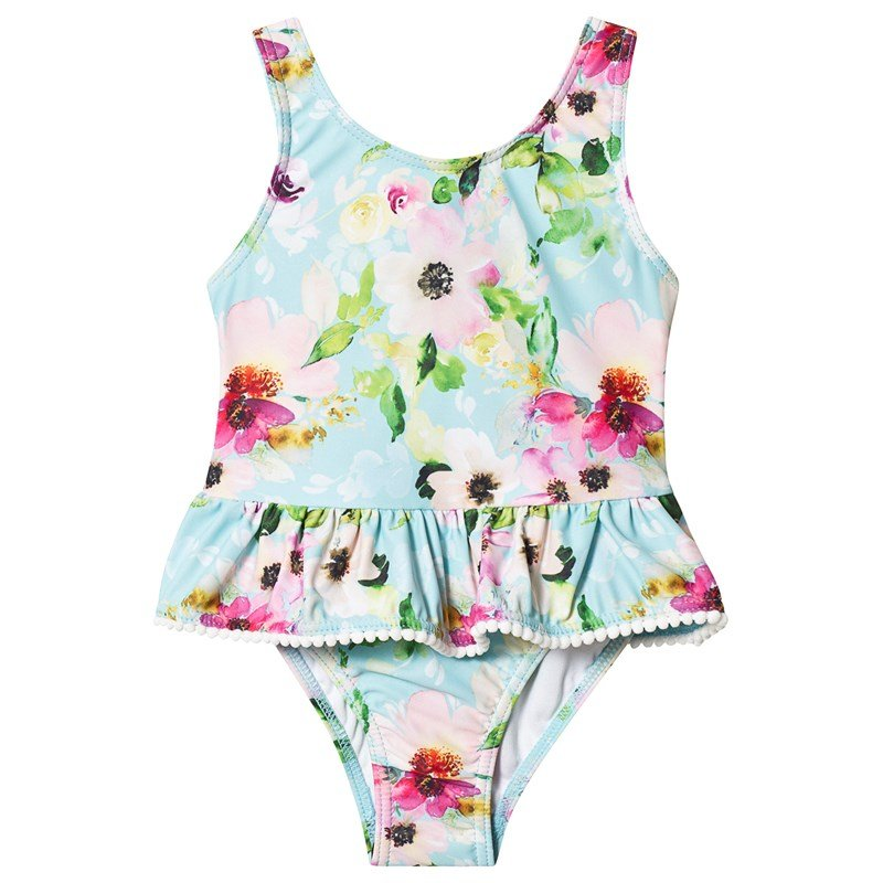 Snapper Rock Multi Floral Frill Swimsuit 18-24 months