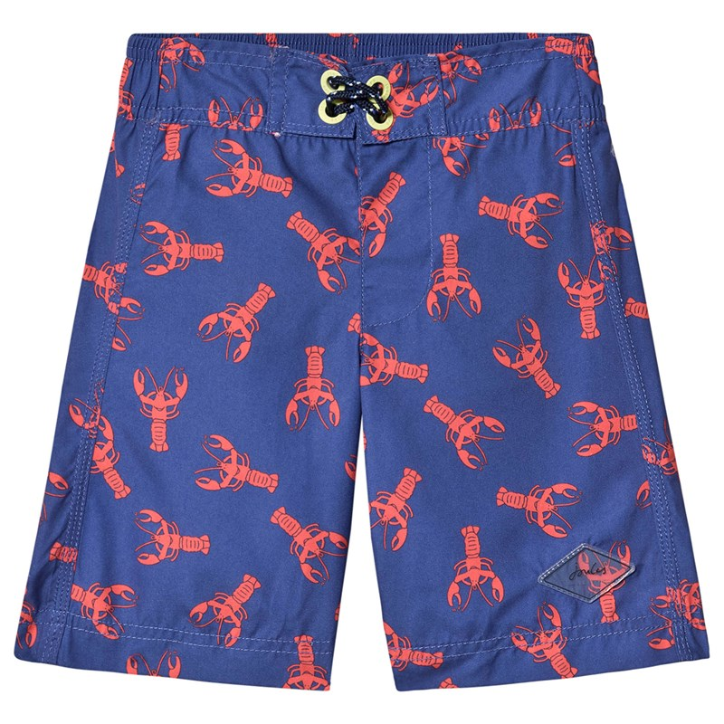 Joules Navy Lobster Print Boardshorts 9-10 years