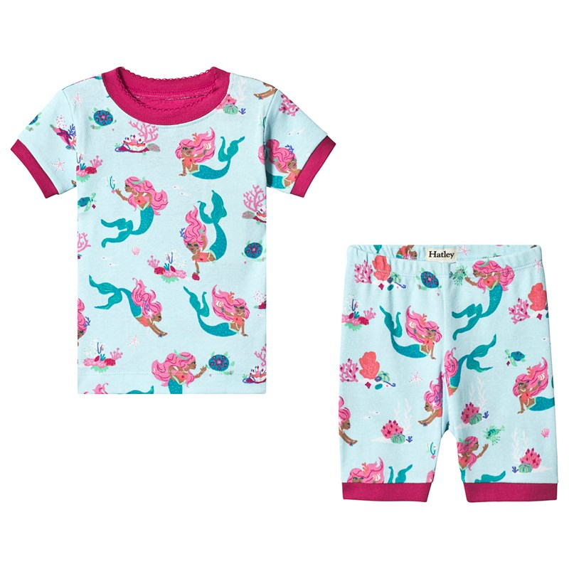 Hatley Mermaid Tales Organic Cotton Short Pajama Set 8 years