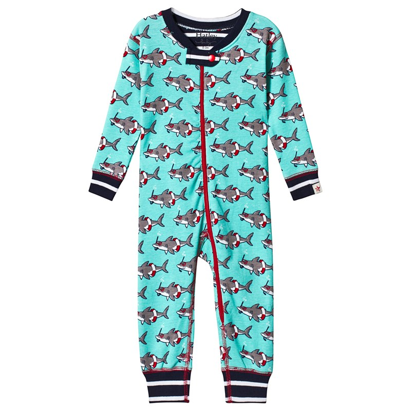 Hatley Snorkeling Sharks Organic Cotton Coverall 6-9 months