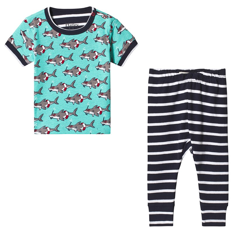 Hatley Snorkeling Sharks Organic Cotton Baby Pajama Set 9-12 months