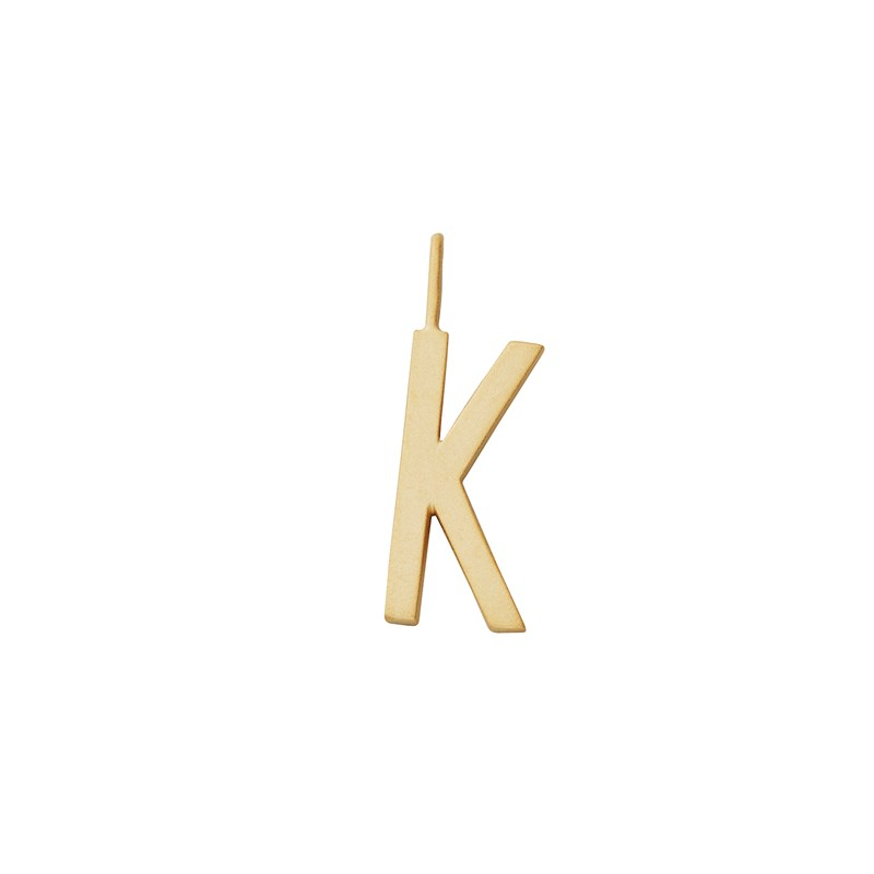 Design Letters 16 mm Matt 18K Gold Plated Silver - K One Size