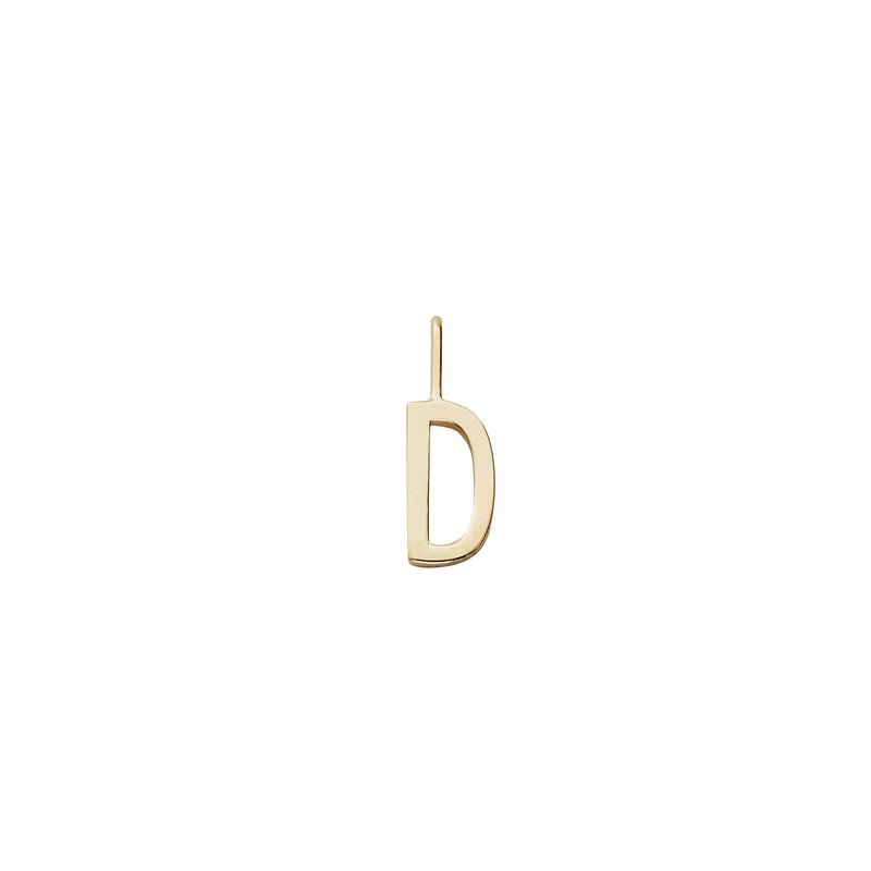 Design Letters 10 mm 18K Gold Plated Silver - D One Size