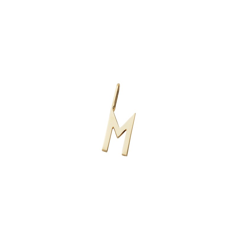 Design Letters 10 mm 18K Gold Plated Silver - M One Size