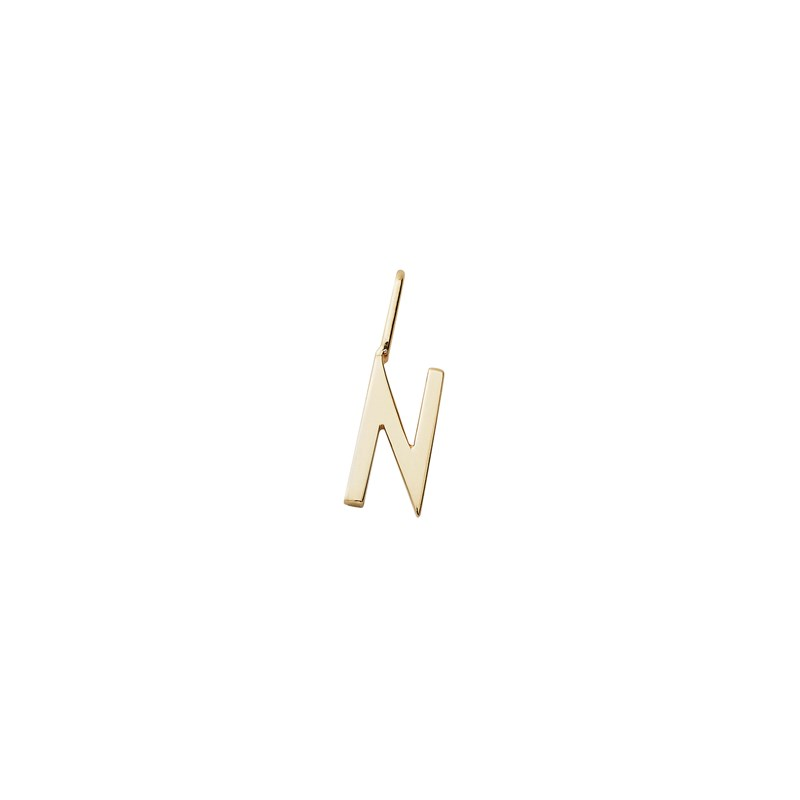 Design Letters 10 mm 18K Gold Plated Silver - N One Size