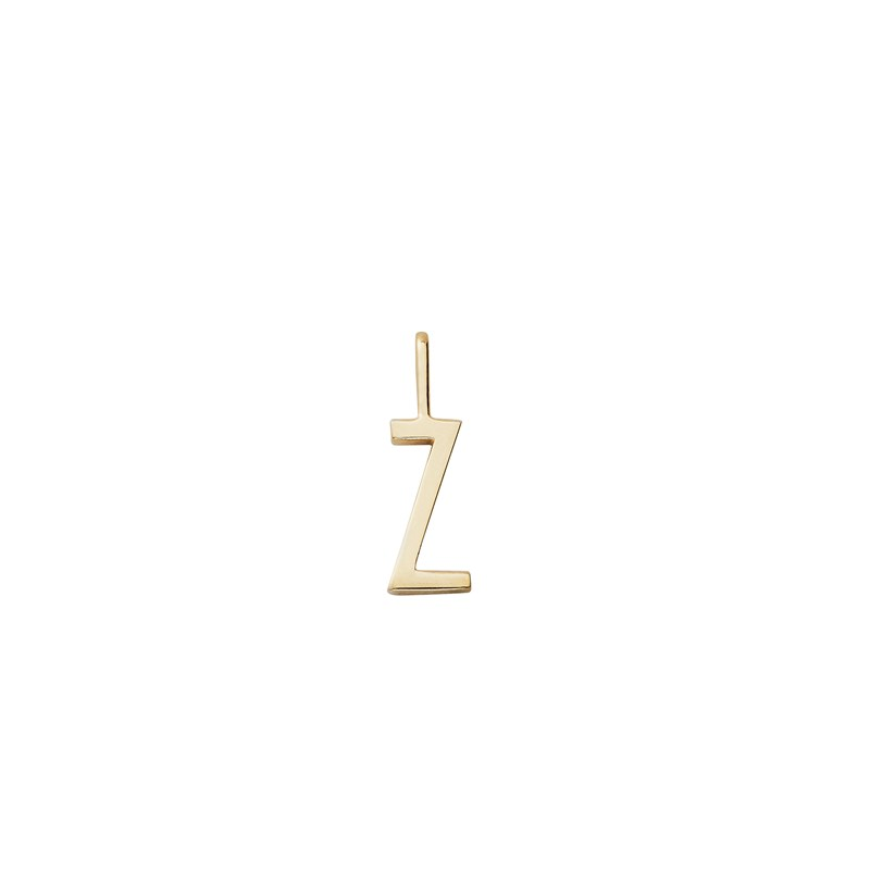 Design Letters 10 mm 18K Gold Plated Silver - Z One Size
