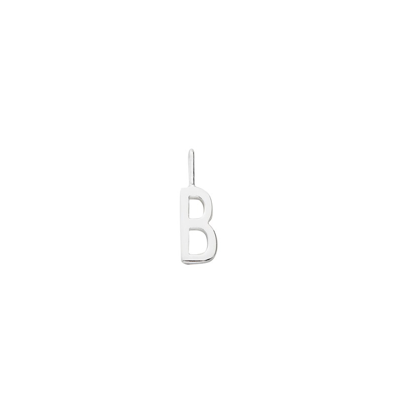 Design Letters 10 mm 925 Sterling Silver - B One Size