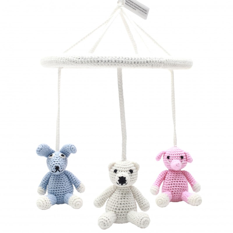 natureZOO Mobiles – Elephant Polarbear And Rabbit One Size