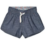 Lands' End Chambray Pull On Shorts Light Indigo Blue