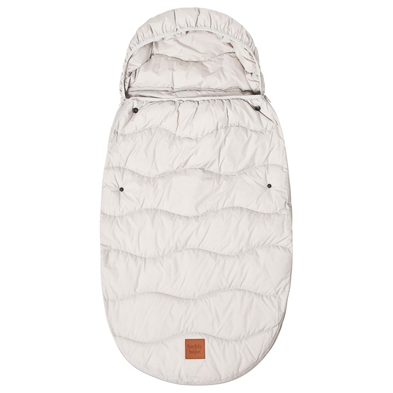 Buddy & Hope Spring Footmuff Down Filling Grey One Size