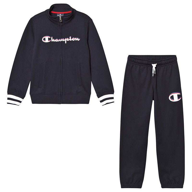 Champion Navy Branded Top & Sweatpants 11-12 years