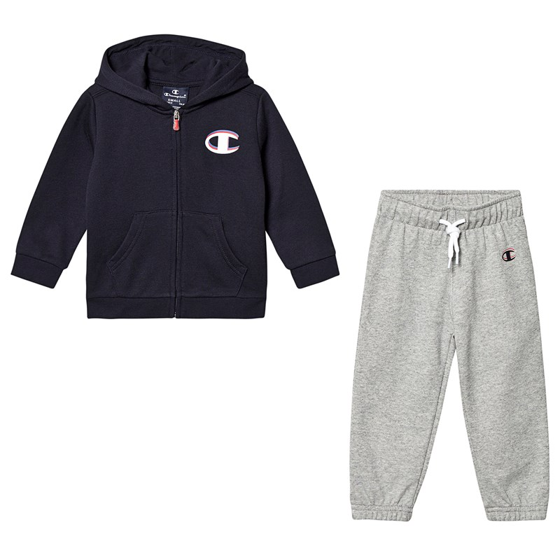 Champion Navy Infants Full Zip Hoodie & Grey Sweatpants 2 years