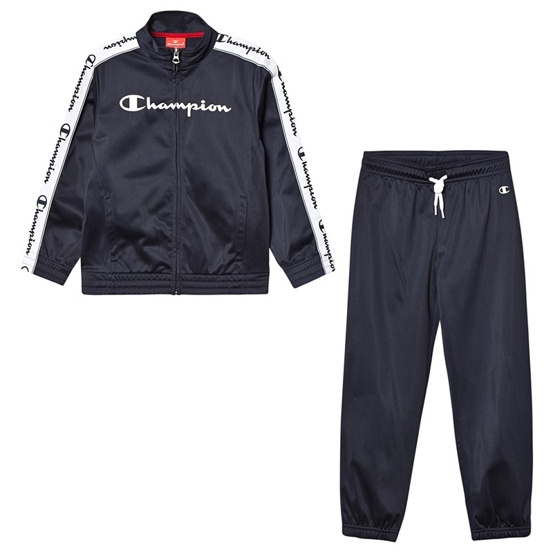 Champion Red & Navy Branded Tricot Tracksuit 9-10 years