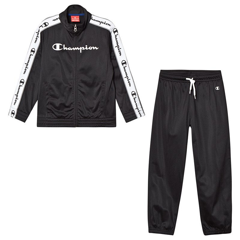 Champion Black Branded Tricot Tracksuit 5-6 years