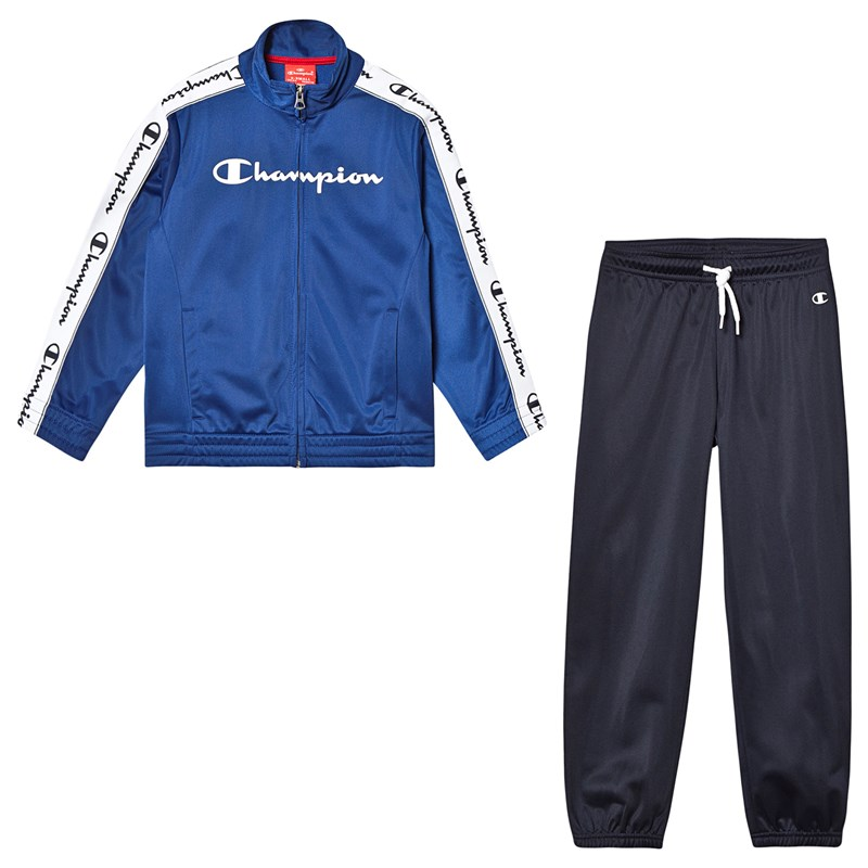 Champion Blue & Navy Branded Tricot Tracksuit 11-12 years