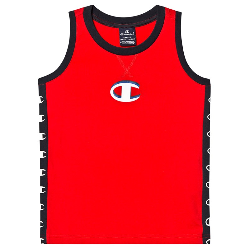 Champion Red Branded Panel Sleeveless Top 9-10 years