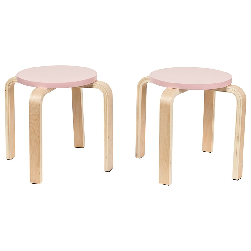 SG Furniture 2-Pack Pallar Rosa One Size