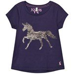 Joules Astra T-Shirt Navy Sequin Horse