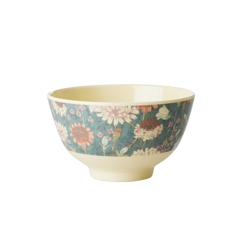 Rice Melamine Bowl with Fall Flower Print Small One Size