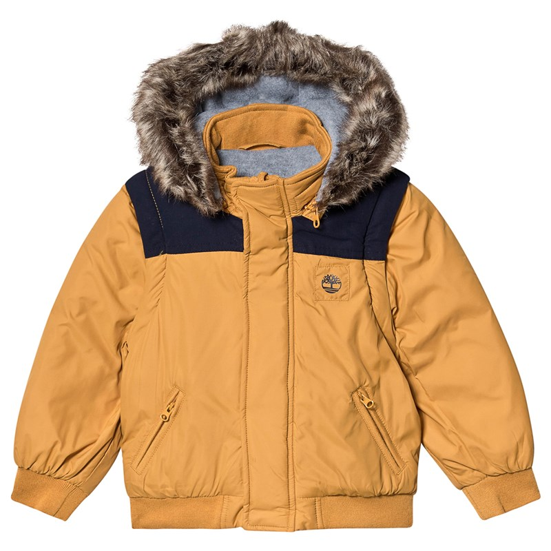 Timberland Mustard Water Repellent 2 in 1 Coat and Gilet 4 years