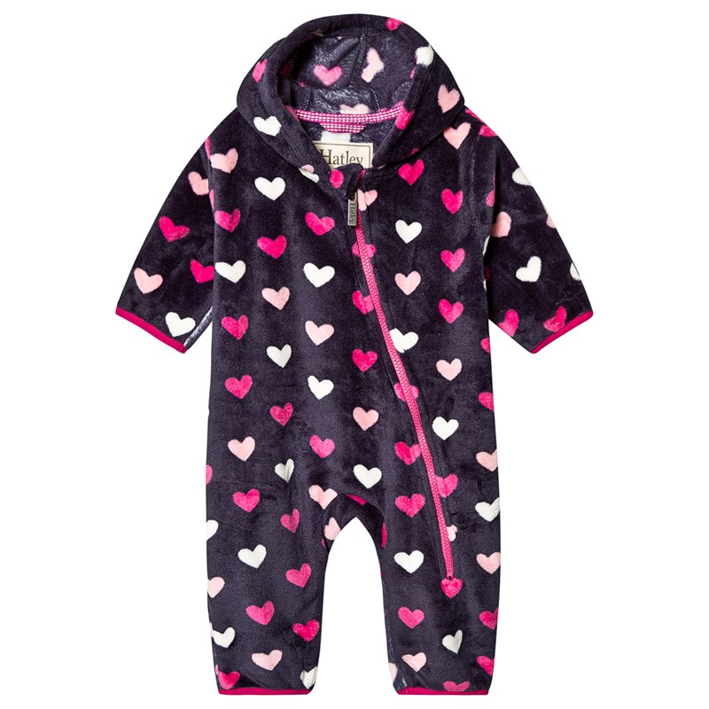 Hatley Lovely Hearts Fleece Overall Rosa 9-12 months