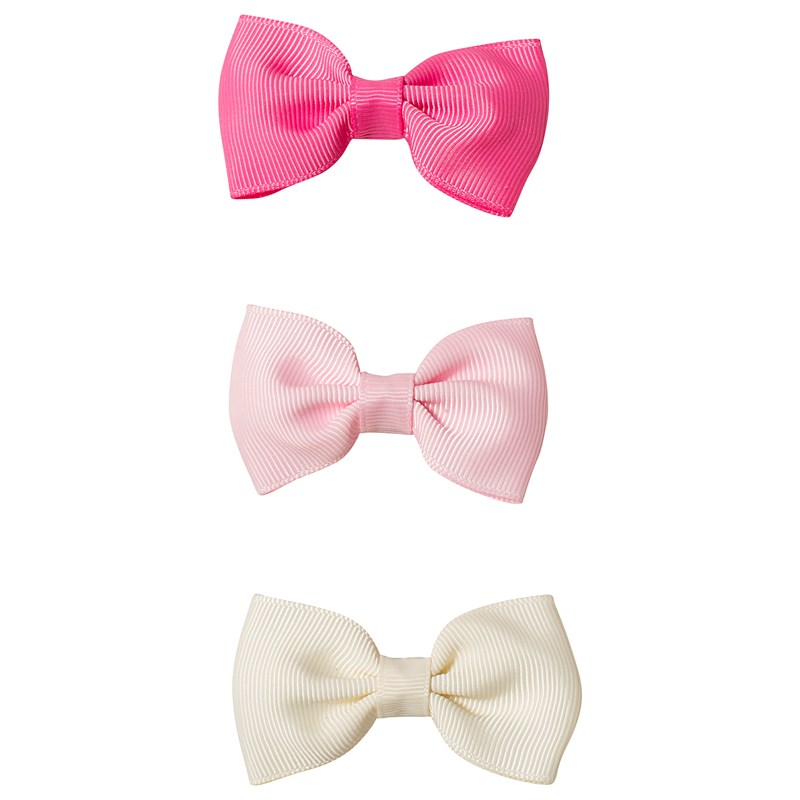 Ciao Charlie Hair Clip Set Bow Cream/Pink/Light pink One Size