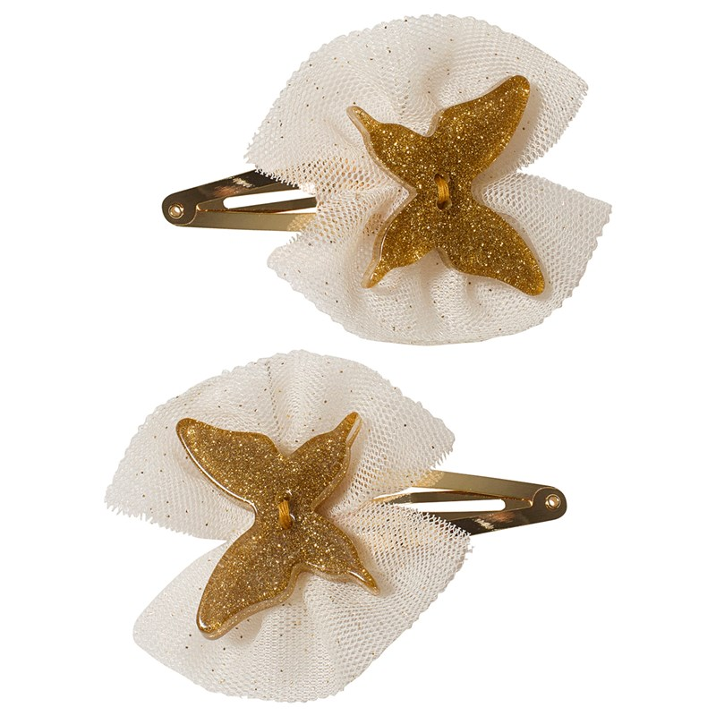 Ciao Charlie Hair Clip Set Butterfly Tulle Gold One Size