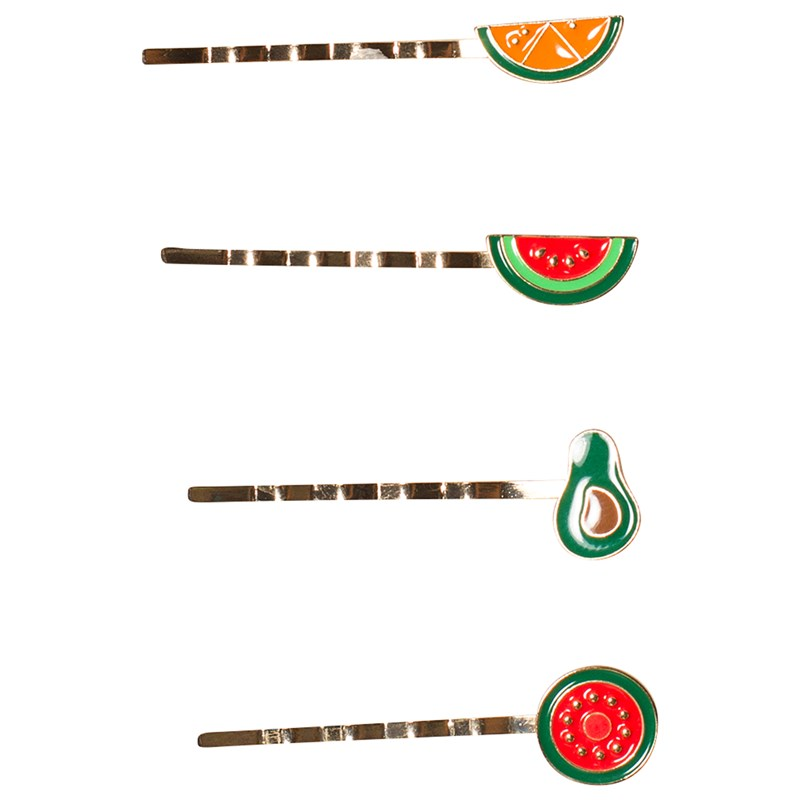 Ciao Charlie Hair Clip Set Fruits Metal One Size