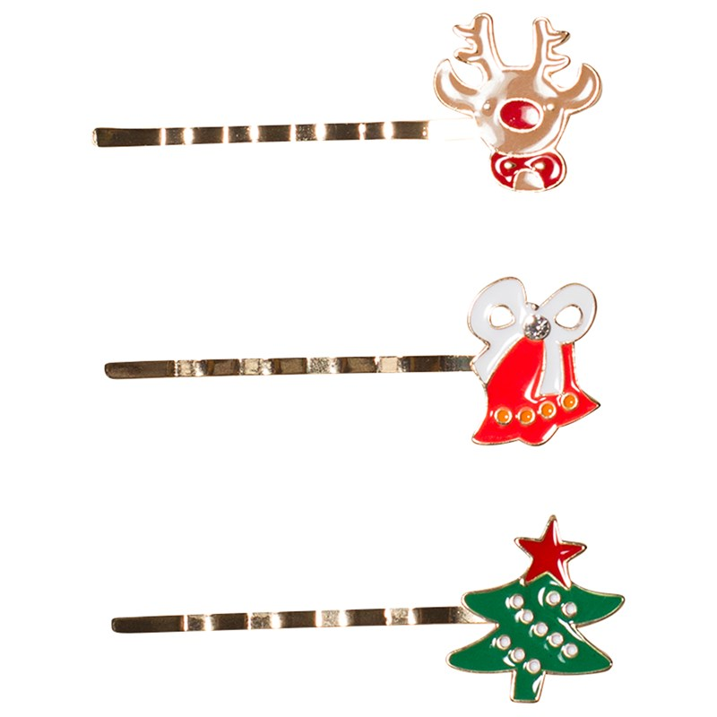 Ciao Charlie Hair Clip Set Christmas Metal One Size