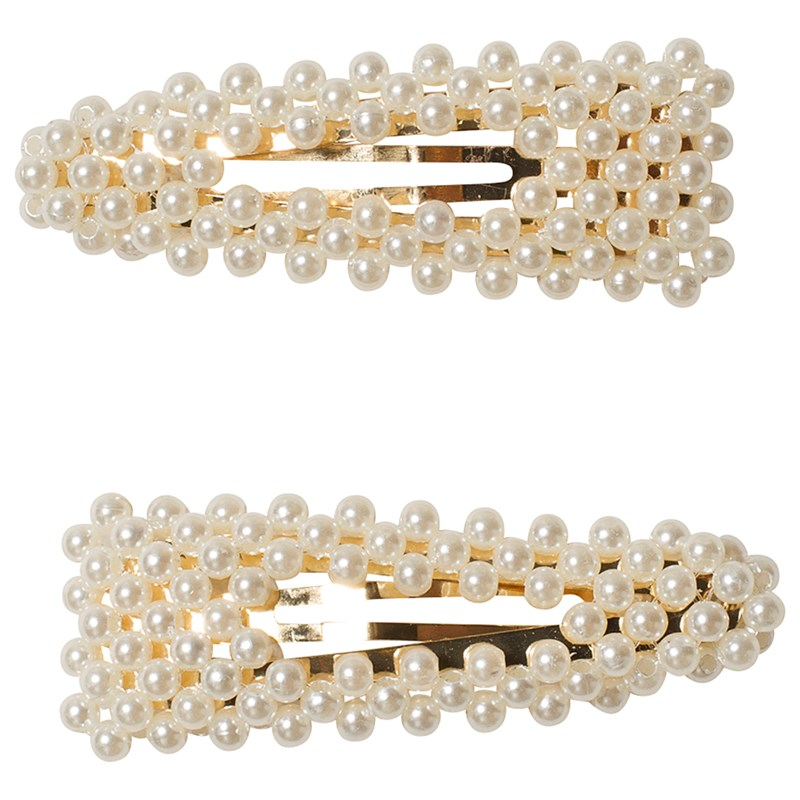 Ciao Charlie Hair Clips Pearls One Size