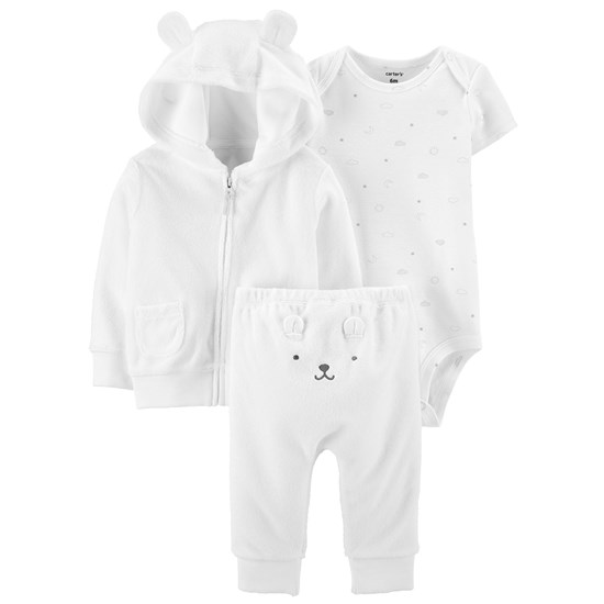Carter's Little Bear Set Vitt