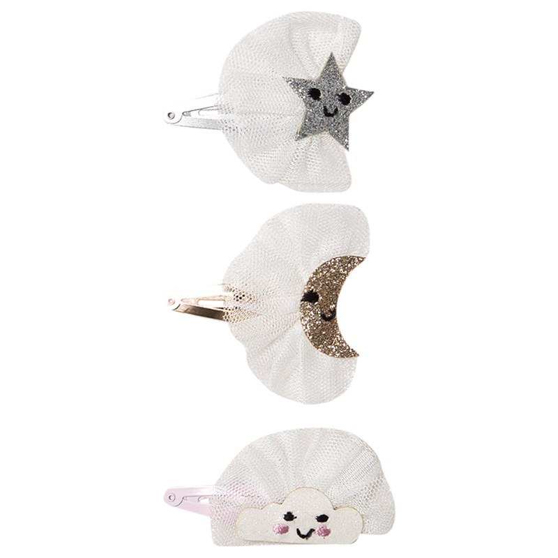 Ciao Charlie Hair Clip Set Cloud Star Moon Tulle Glitter One Size