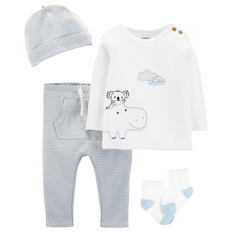 Carter's 4-delar Koala Take-Me-Home Set Svart/Vit 12 mån
