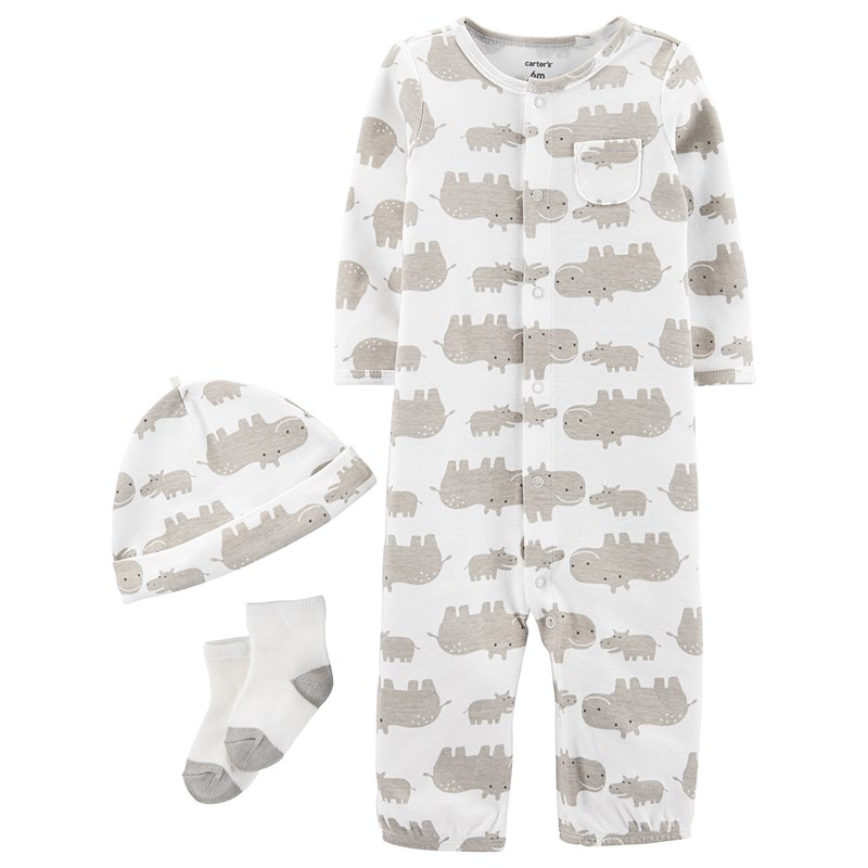 Carter's 3-delar Babysoft Take-Me-Home Set Elfenben 6 mån