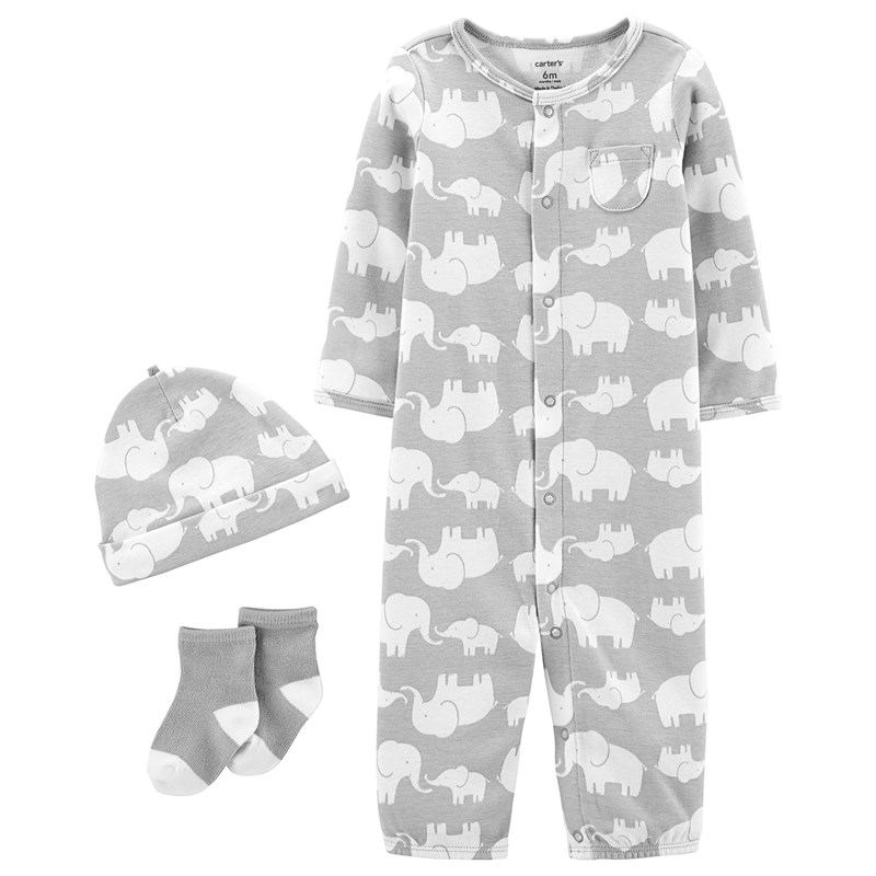 Carter's 3-delar Babysoft Take-Me-Home Set Grå 6 mån