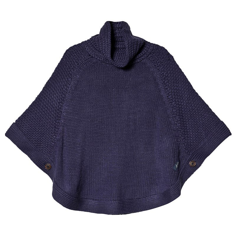 Joules Kabelstickad Tess Poncho Marinblå XS (1-2 years)